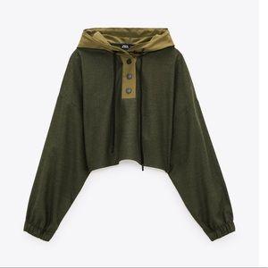 Zara Combination Hoodie Top